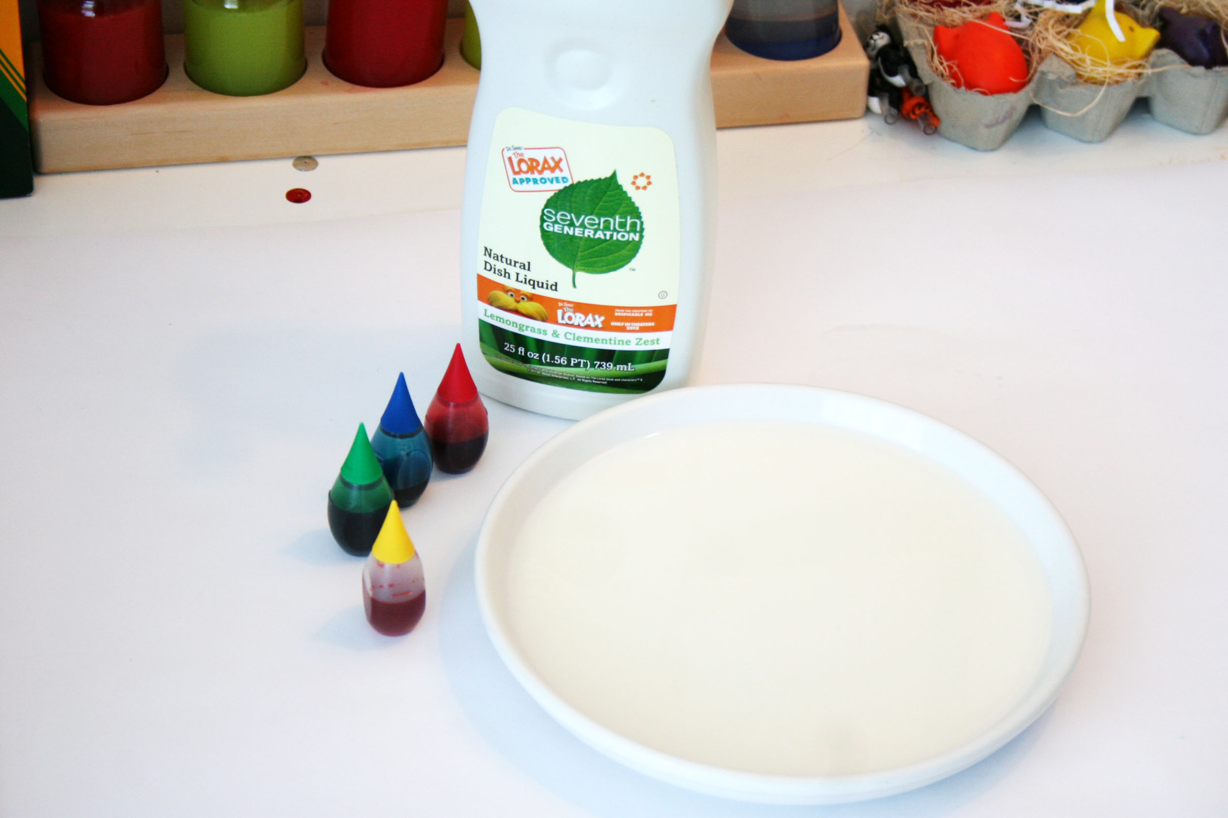 Kitchen Table Science: Food Coloring Surface Tension. - Bird and ...