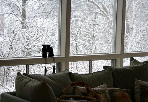 Snow through the windows