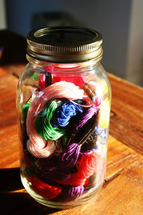Jar of thread