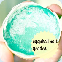 Eggshell geode button