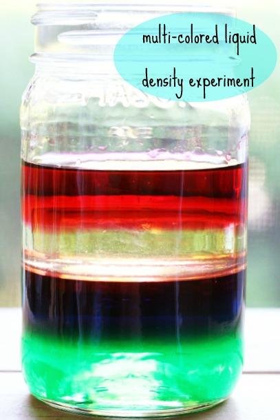 Multi-Colored Liquid Density Experiment for Kids