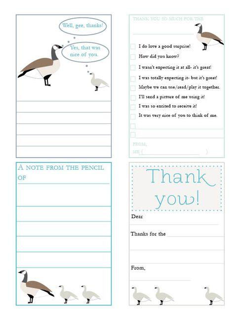 Goose thank you notes