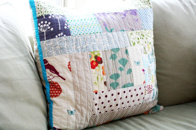 Patchwork couch pillows 3