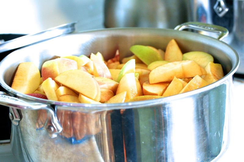 Apple in pot