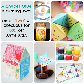Alphabet Glue Two Year Anniversary Sale