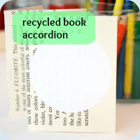 Recycled accordion tutorial button