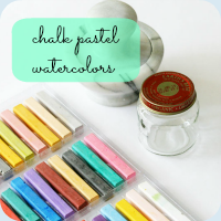 Chalk watercolors button