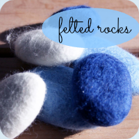 Felted rocks tutorial button