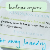 Kindness coupon 2 button