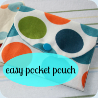 Pouch tutorial button