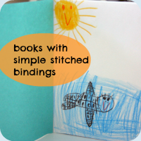 Stitched binding book tutorial button