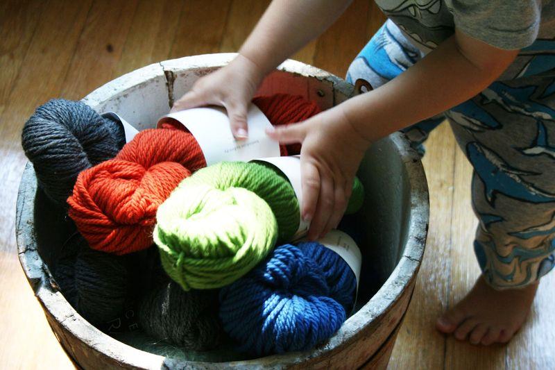 Toddler sweater yarn 3