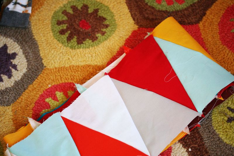 Multi-color triangle quilt 2