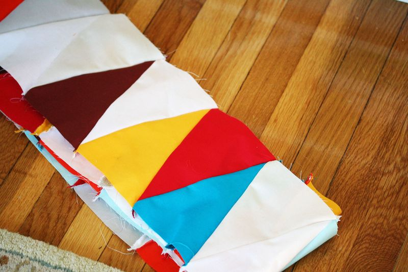 Multi-color triangle quilt 3